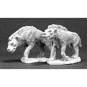 Reaper Miniatures Hyena Pack (2 Pieces) #03277 Dark Heaven Unpainted Metal