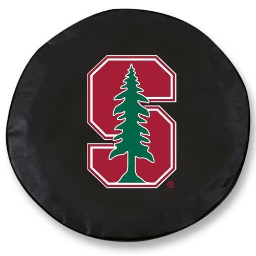 NCAA Tire Cover by Holland Bar Stool - Stanford, Black - 31.25'' x 12''