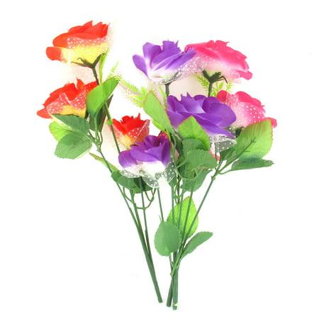 3 pcs wedding office artificial bouquet flower assorted color. Black Bedroom Furniture Sets. Home Design Ideas