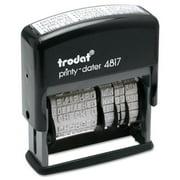Trodat Trodat Economy 12-Message Stamp, Dater, Self-Inking, 2 x 3/8, Black
