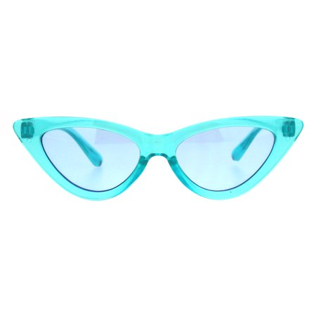 Girls Kid Size Gothic Cat Eye Pimp Color Lens Plastic Sunglasses (Best Sunglasses For Eye Health)