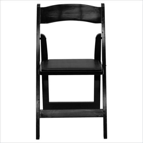 Flash Furniture Hercules Series Wood Folding Chair in Black