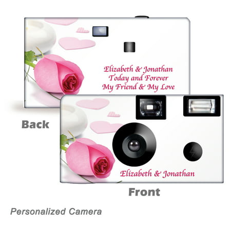 10 Pack Personalized Roses & Candlelight Disposable Cameras. Free shipping.  Birthday Cameras, Wedding Cameras, Event Cameras, from CustomCameraCollection WM-80005-P