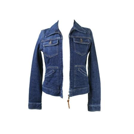 Lauren Jeans Co. Blue Classic Zippered Denim Jacket XS