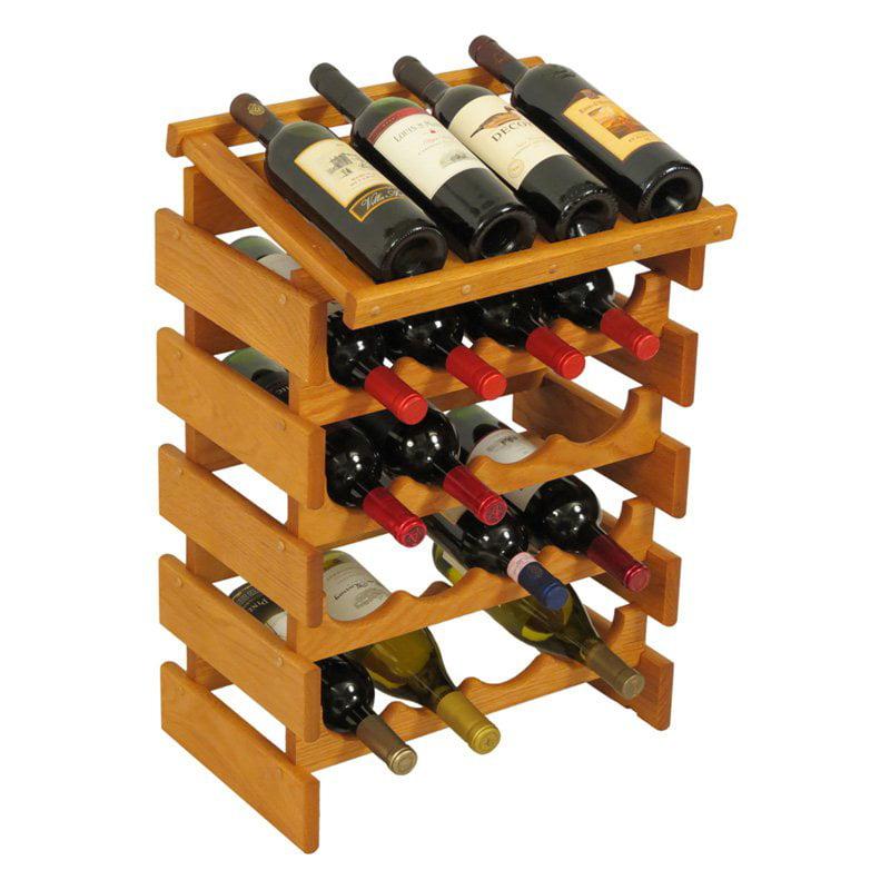 Dakota 20 Bottle Wine Rack with Display Top by Wooden Mallet