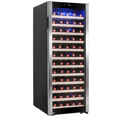 AKDY 80 Bottles Freestanding Single Zone Compressor Within Wine Cooler Cellar