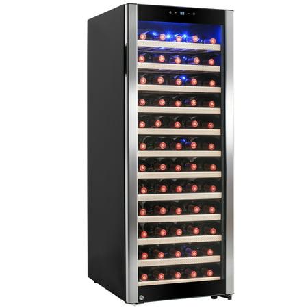 AKDY 80 Bottles Freestanding Single Zone Compressor Within Wine Cooler Cellar Refrigerator
