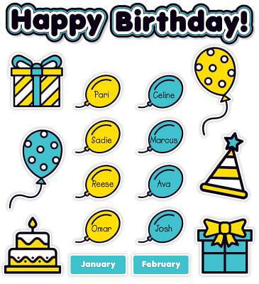 Aqua Oasis: Birthday Graph Bulletin Board