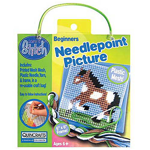Quincrafts Learn to Stitch Needlepoint Kit, Horse