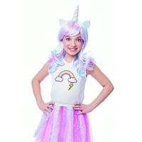 Rainbow Unicorn Girls Child Fantasy Halloween Costume Wig