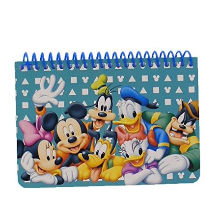 (Disney Mickey Mouse and Friends Spiral Autograph Book - Teal by Goofy Mickey Donald)