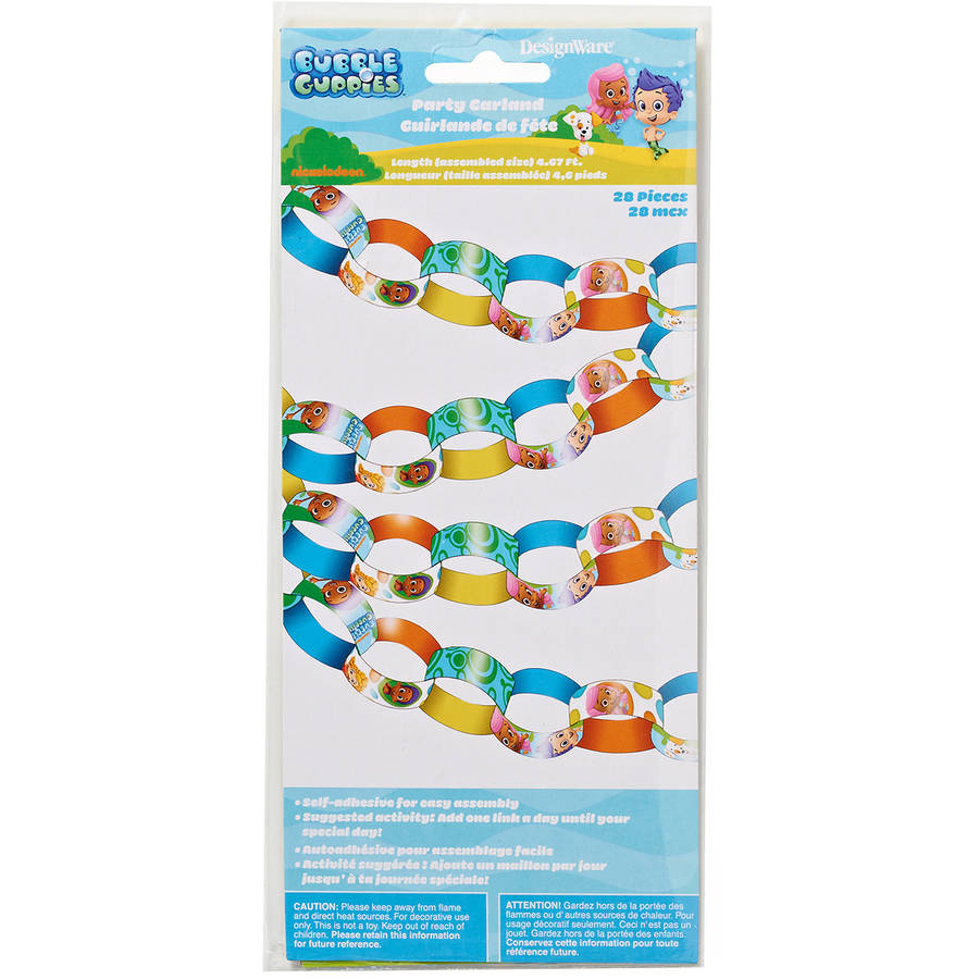 Bubble Guppies Hanging Garland Party Decorations, Party Supplies