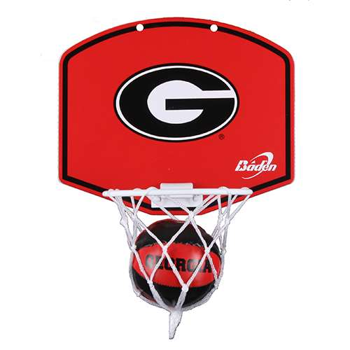 Georgia Bulldogs Mini Basketball And Hoop Set