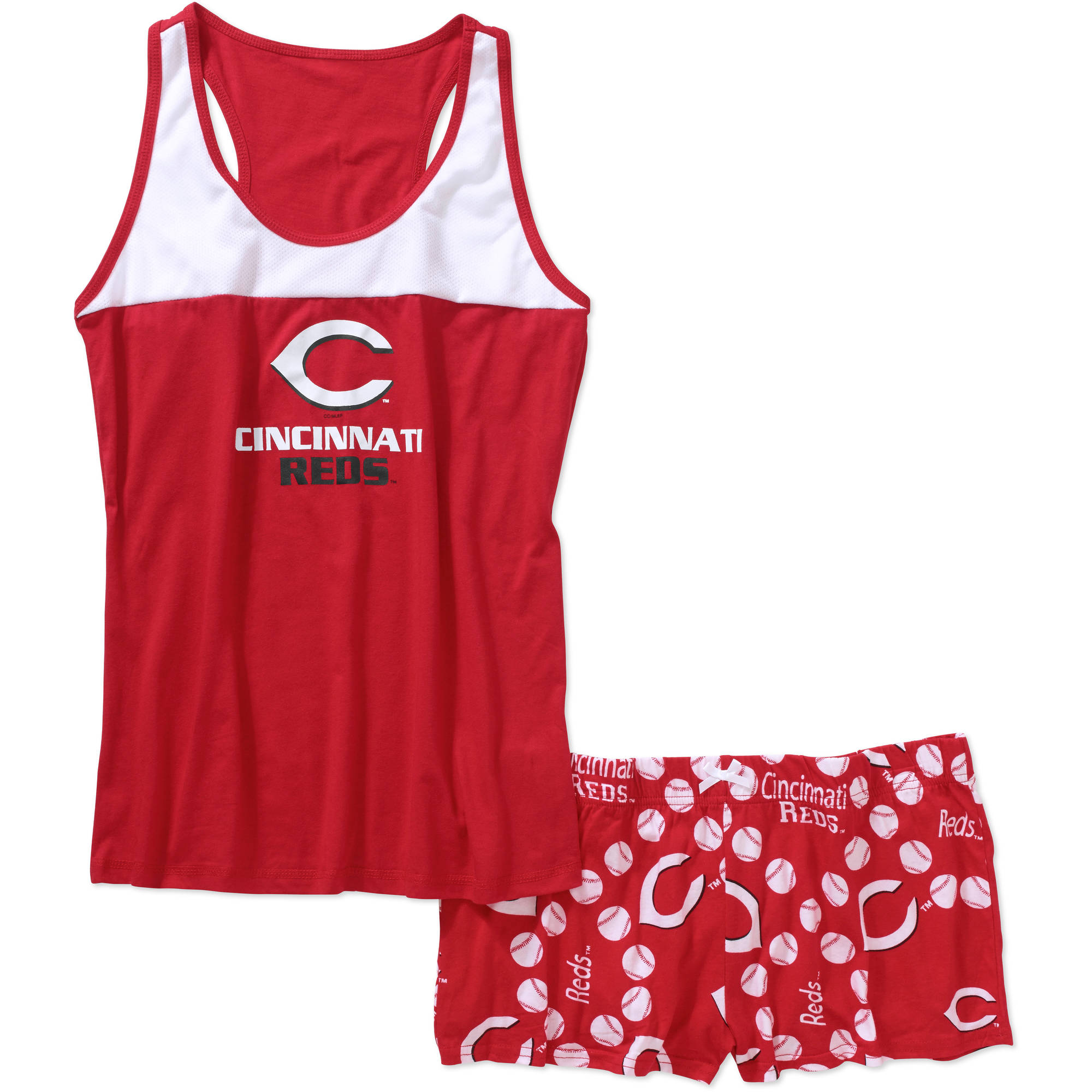 MLB Women's Cincinnati Reds Tank Top and Shorts Set