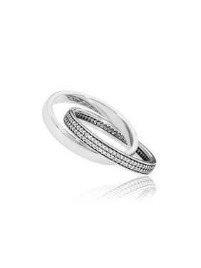 1e0b1fd3f Product Image Ring in sterling silver w/clear CZ in sz 54 and engraving PAN  Ring sz. PANDORA