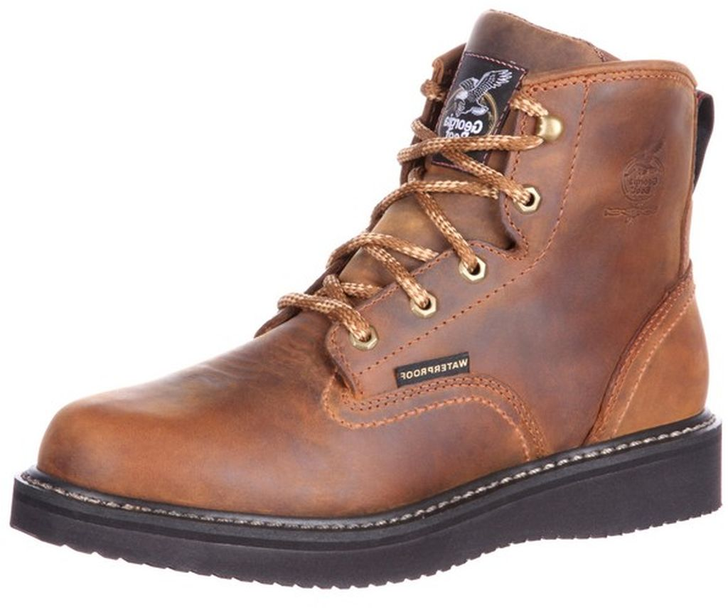 Georgia Boot Work Mens Waterproof Wedge Goodyear Welt Brown GB00124 by Georgia Boot