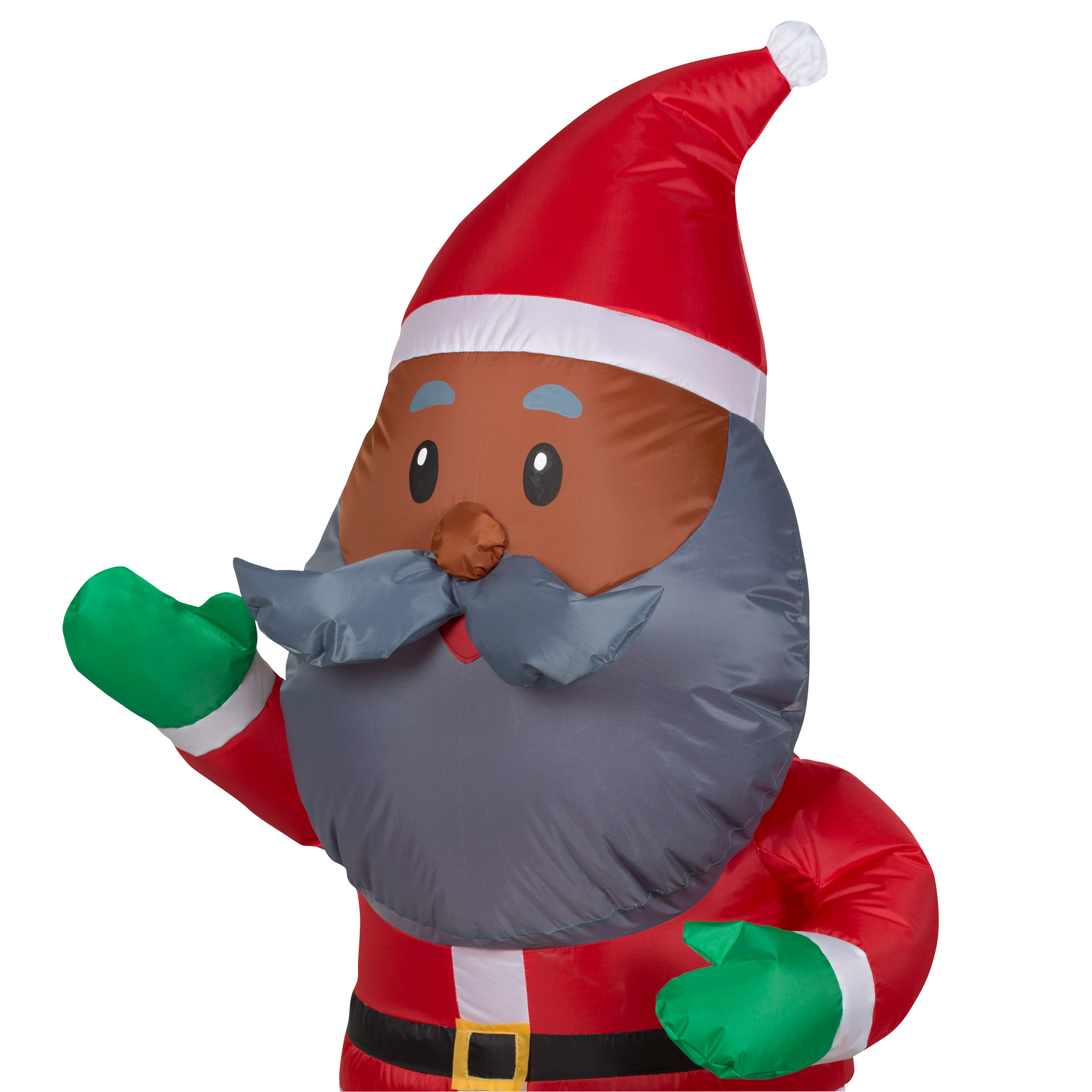 Image of Airblown Inflatable African American Santa 4ft tall by Gemmy Industries