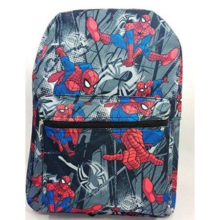 Backpack - Marvel - Spiderman Black School Bag New 694531 (Spider Man Bag)