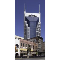 The At&T Building, Locally known as the Batman Building in Nashville, Tennessee, U.S.A. Print Wall Art By John Woodworth