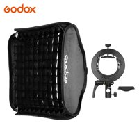 Godox 60 * 60cm/24 * 24inch Flash Softbox Diffuser Inner Grid with -type Bracket Bowens Mount Carry Bag for Flash Speedlite Compatible with Godox AD200Pro/V1 series/TT350 series/V860Ⅱ series/AD400Pro