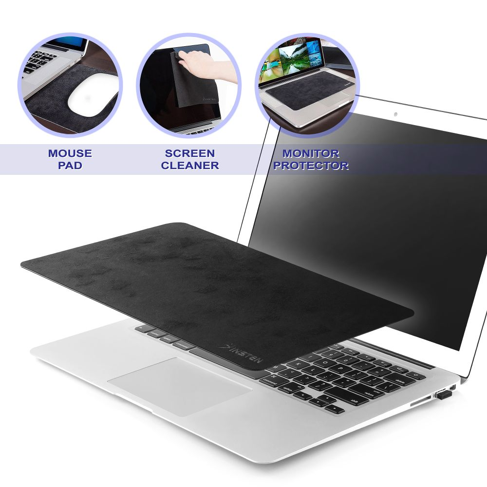 "Insten Multi-functional Mouse Pad (Act as Screen Protector & Cleaning Cloth) (10.8 x 6.3"")"