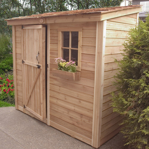 Outdoor Living Today SpaceSaver 8 Ft. W x 4 Ft. D Wood Lean-To Shed