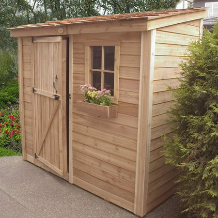 Outdoor living today spacesaver 8 ft w x 4 ft d wood for Garden shed 4 x 8