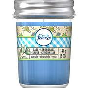 Febreze Candle Sage Lemongrass Air Freshener, 5.5 oz
