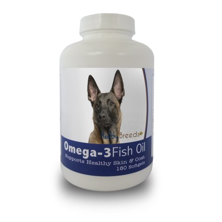Healthy Breeds Dog Omega-3 Fish Oil Softgels for Belgian Malinois 180 Count
