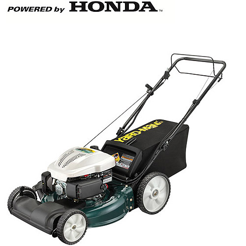 "Yard-Man 21"" Side Discharge/Mulch/Rear Bag Front Wheel Drive High Wheel Electric Start Self Propelled Gas Mower"