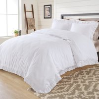 Better Homes & Gardens Raw Edge Ruffle Duvet Cover Set