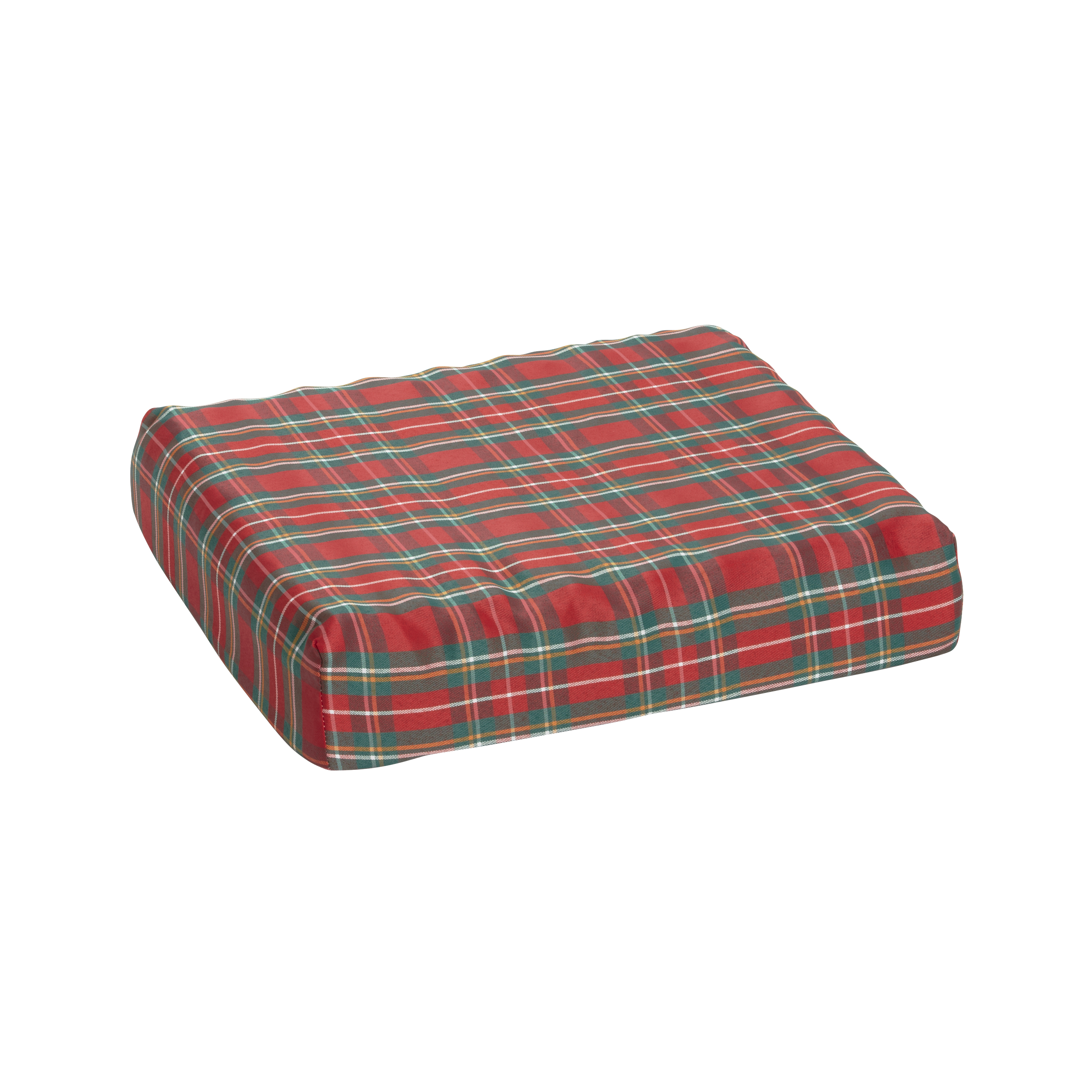 DMI Convoluted Foam Chair Pads, Seat with Plaid Cover, 16 x 18 x 4