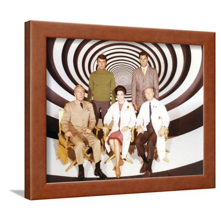 Time Tunnel Group Portrait in Black and White Swirl Background Framed Print Wall Art By Movie Star News](Black And White Swirl)