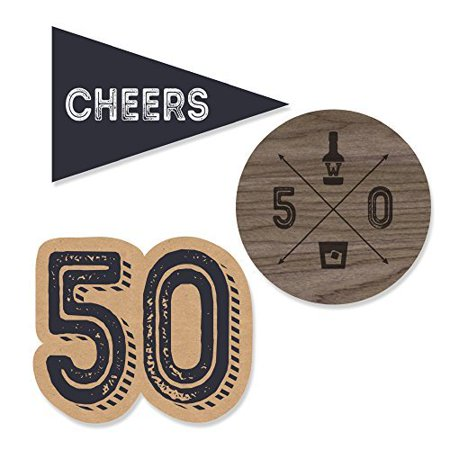50th Milestone Birthday - DIY Shaped Party Cut-Outs - 24 - 50th Birthday Milestone