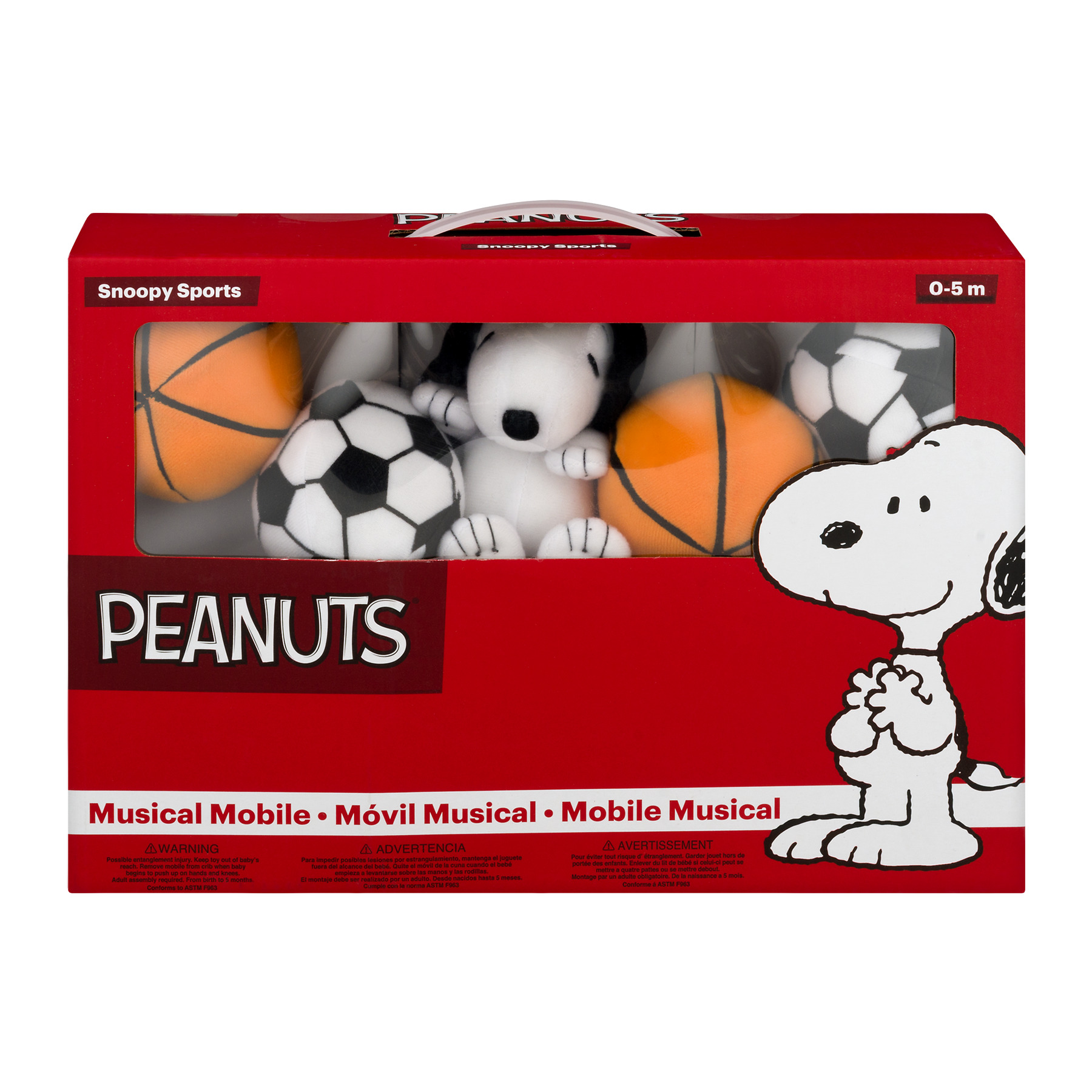 Peanuts Lamp Snoopy Sports Musical Mobile 0, 1.0 CT by Bedtime Originals