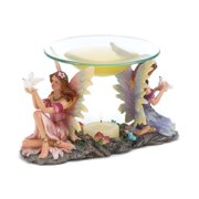 Zingz & Thingz Peaceful Fairies Resin and Glass Tealight Oil Warmer