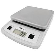 "San Jamar Escali Pro MZR? 13 lb Grey ABS Plastic Low-Profile Digital Kitchen Scale - 5 3/4""L x 8 1/4""W x 1 1/2""H"