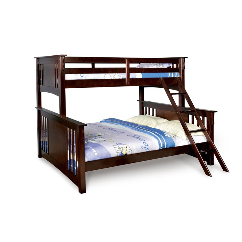 Bowery Hill Twin XL over Queen Bunk Bed in Walnut