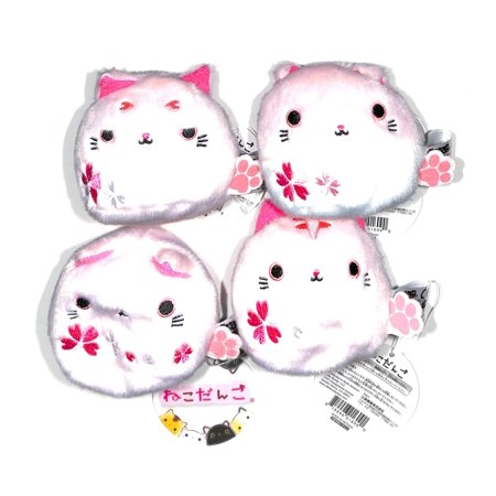 Cherry Blossom Coat (Neko Dango ねこだんご Small Beam Based Cat Ball Plush Toy Sakura Cherry Blossom Japan Collection Unique Set of 4 Tora Sakura, Mark Sakura, Suko Sakura, and Sakura-San)