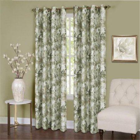 50 x 63 in. Tranquil Lined Grommet Window Curtain Panel, Green - image 1 de 1