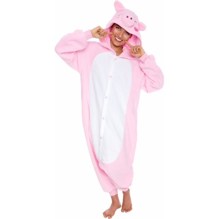 Pig Costume Pattern (SILVER LILLY Unisex Adult Plush Pig Animal Cosplay Costume)