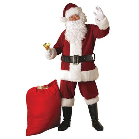 Crimson Regal Plush Santa Suit Adult - Adult Santa Outfit