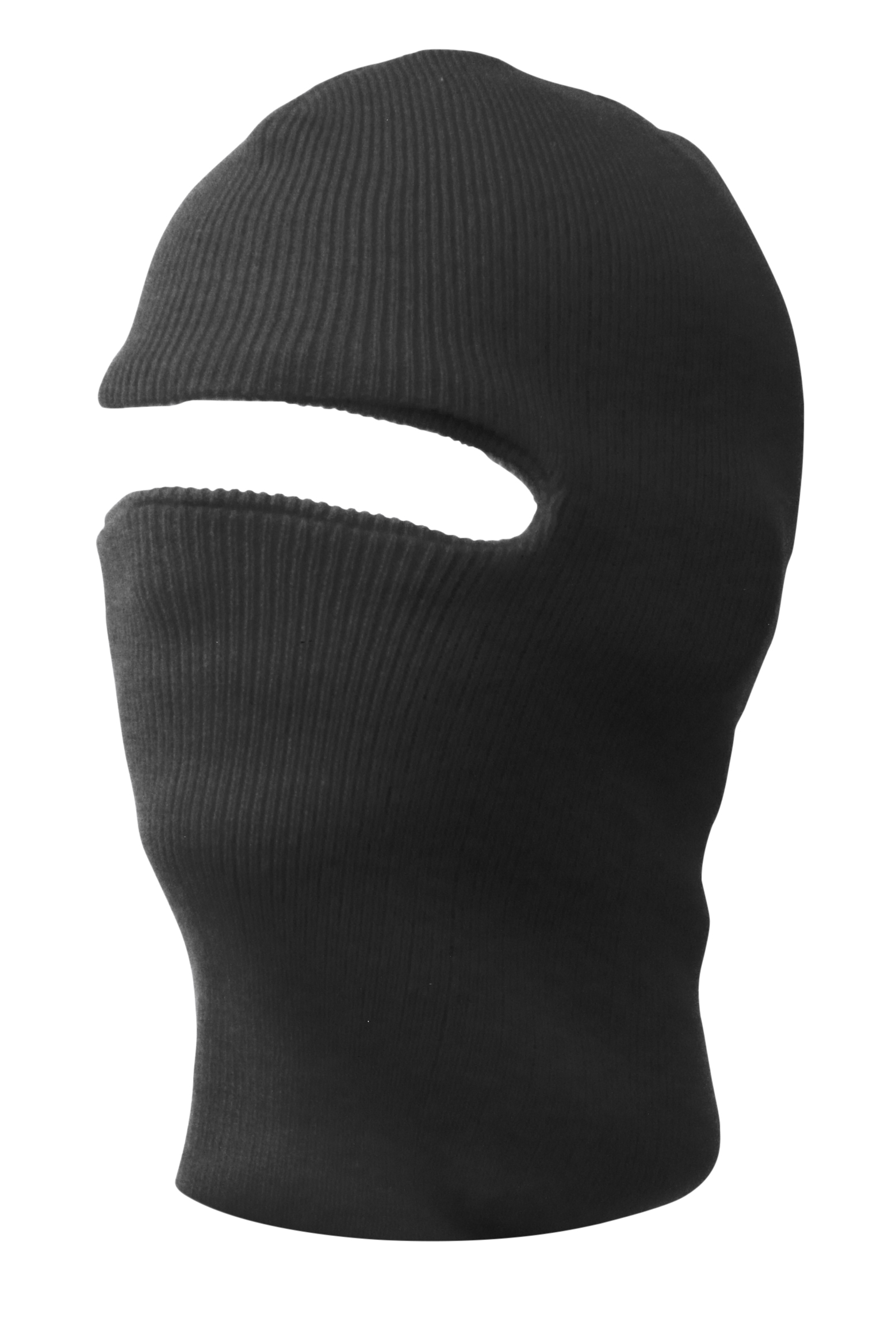 New Charcoal One Hole Ski Mask by