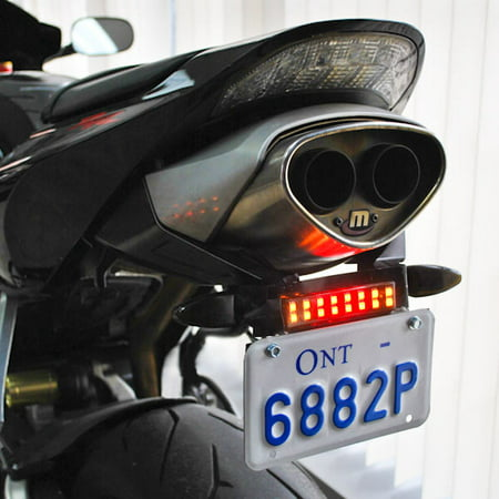T-rex 600 Tail Rotor - Krator Dyna Glow Integrated LED Taillight Strip Signals For Suzuki GSXR 600 750 1000 1300