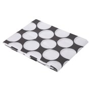 Bacati Dots / Pin Stripes Large Dots Fitted Crib Sheet