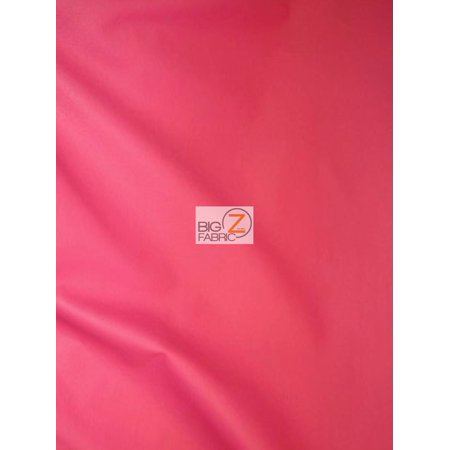 Solid Soft Faux Fake Leather Vinyl Fabric / Hot Pink / Sold By The Yard - Hot Pink Fabric