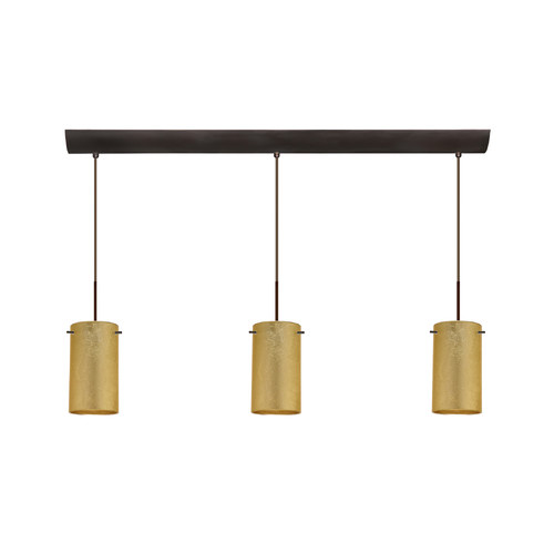 Besa Lighting Stilo 7'' 3 Light Cord Hung Mini Pendant with Bar Canopy