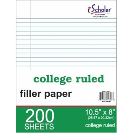 100 Count Reinforced Filler Paper College Ruled 83101