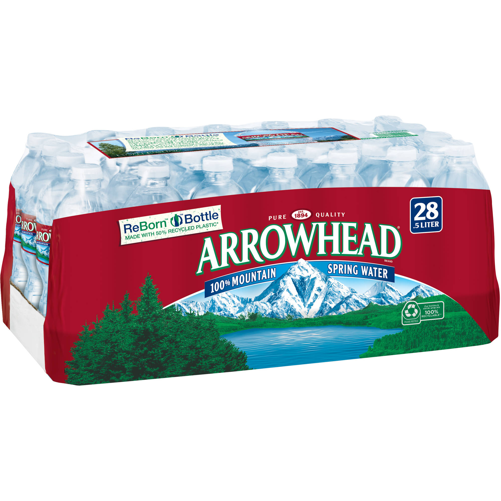 Arrowhead 100% Mountain Spring Water, 16.9 fl oz, 28 pack