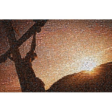 Mosaic Cross (Jesus On Cross Mosaic Poster Print by Kelly Redinger  Design)